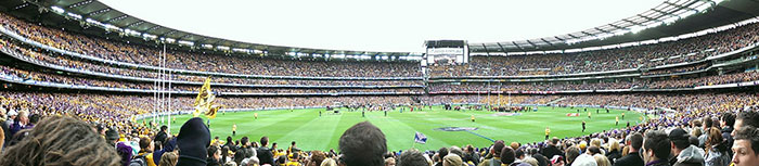 View from crowd for 2013 AFL Grand Final