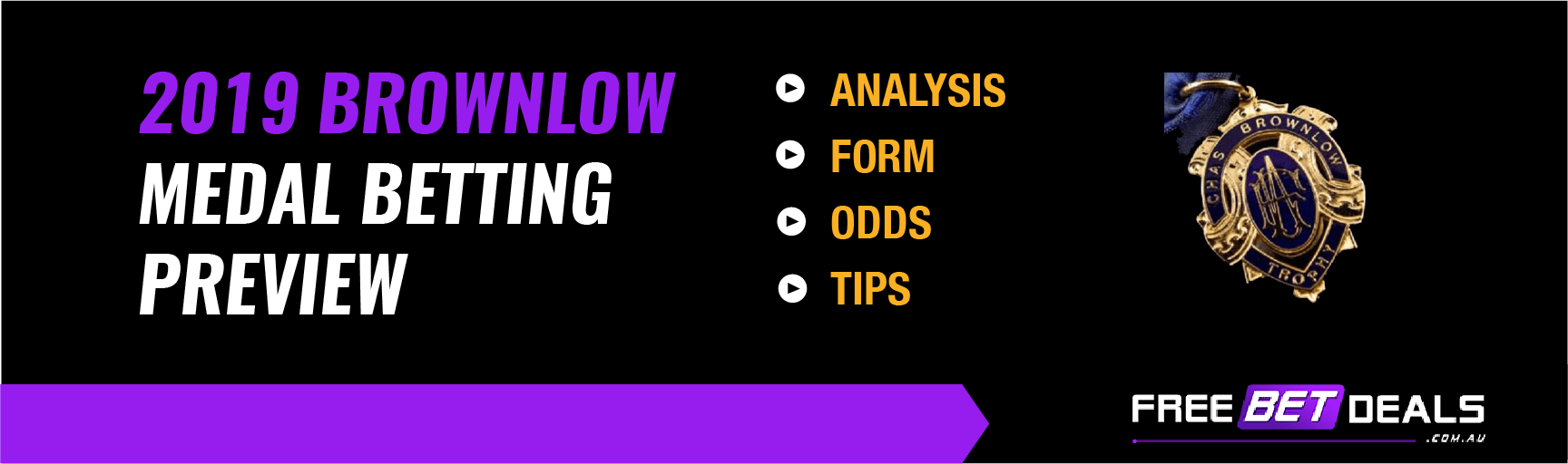 Brownlow Medal betting preview infographic