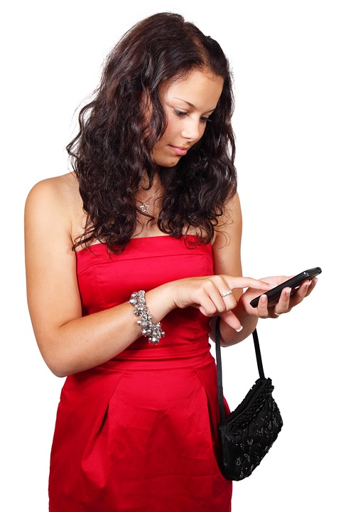 mobile phone user accessing their phone