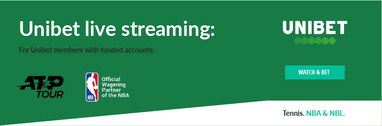 Unibet live streaming infographic that explains how members can watch Unibet TV for free
